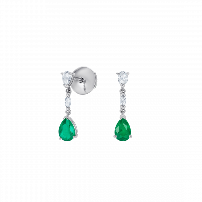 Grafton Emerald and Diamond Drop Earrings