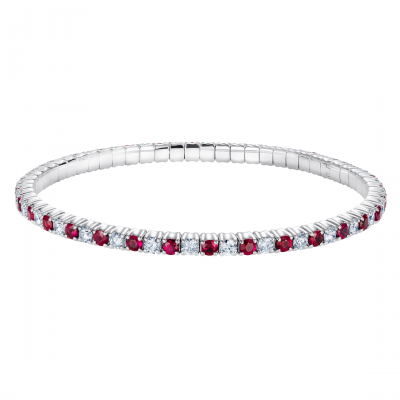 Alternating Ruby and Diamond Advantage Bracelet