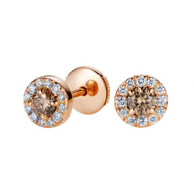 Regal Cognac Diamond Earrings