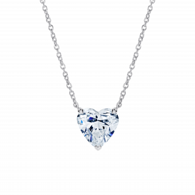 Heart Shape Diamond Solitaire Pendant