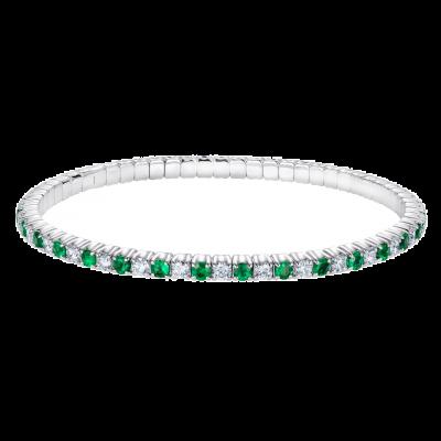 Alternating Emerald and Diamond Advantage Bracelet