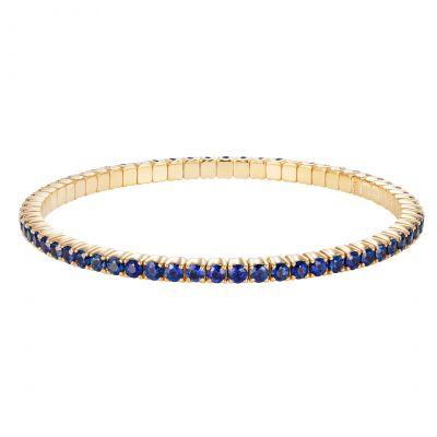 Large Advantage Sapphire Bracelet in Yellow Gold