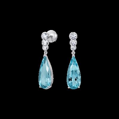 Regent Aquamarine and Diamond Earrings