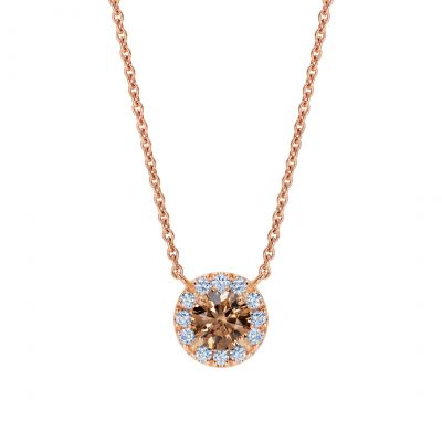 Regal Cognac Diamond Pendant