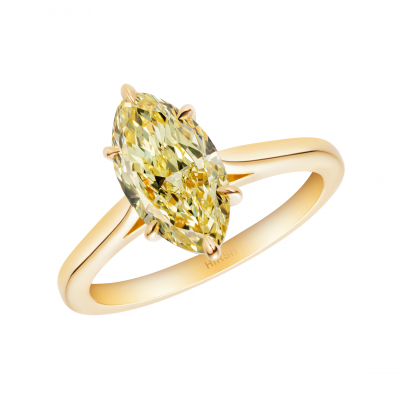 Solitaire Yellow Diamond Ring