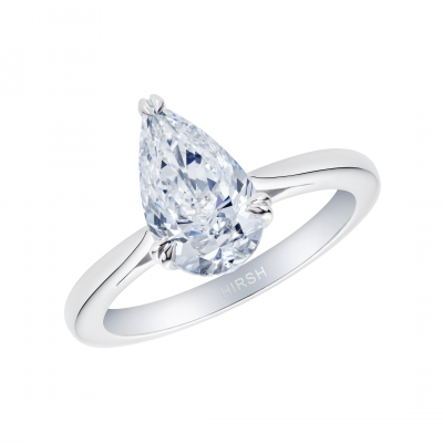 Solitaire Pear Shape Diamond Ring