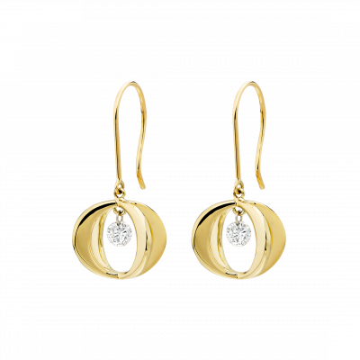 Cinderella Earrings in 18K Gold