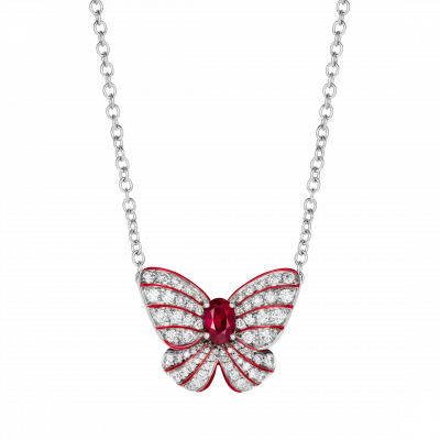 Grace Ruby Butterfly Pendant