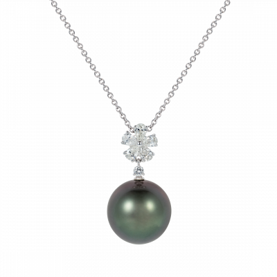 Beauchamp Tahitian Pearl and Diamond Pendant