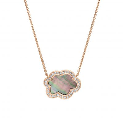Cloud 9 Mother of Pearl and Diamond Pendant
