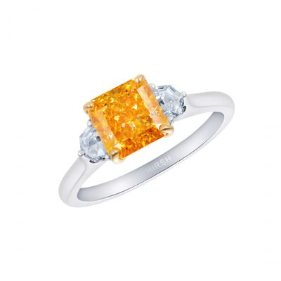 Trio Orange Diamond Ring