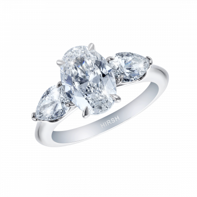 Trio 2 Carat Oval Diamond Ring
