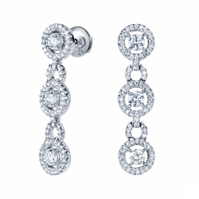 Regal Diamond Drop Earrings
