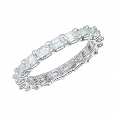 Eternity Ring with Emerald Cut Diamonds