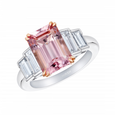 Artemis Morganite and Diamond Ring