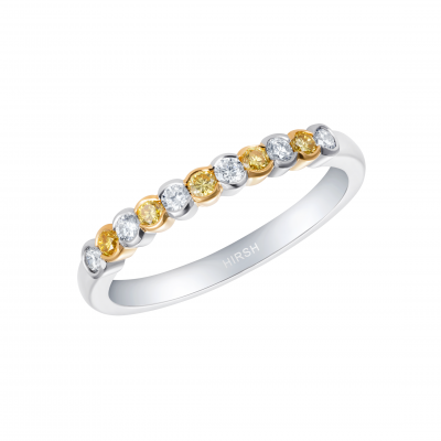 Lifetime Yellow Diamond and Diamond Ring
