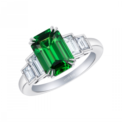 Artemis Tsavorite Garnet and Diamond Ring