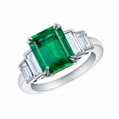 Artemis Emerald and Diamond Ring