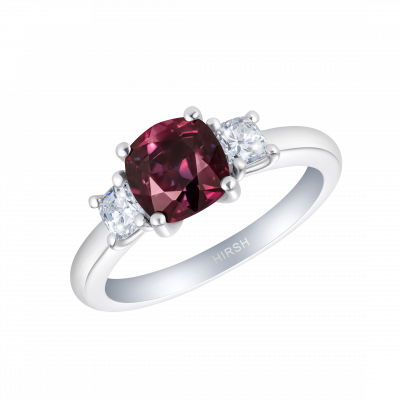 Trio Colour-change Purple Sapphire Ring