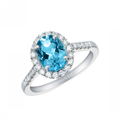 Regal Aquamarine and Diamond Ring