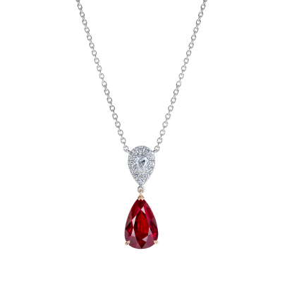 Burlington Ruby and Diamond Pendant