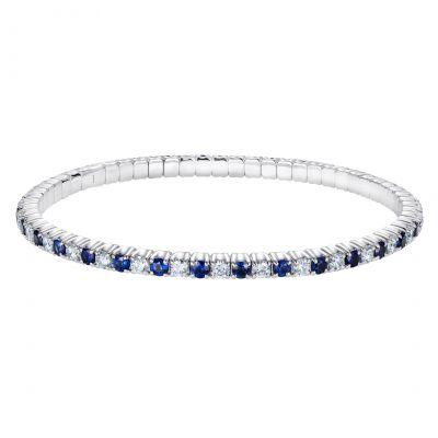 Alternating Sapphire and Diamond Advantage Bracelet