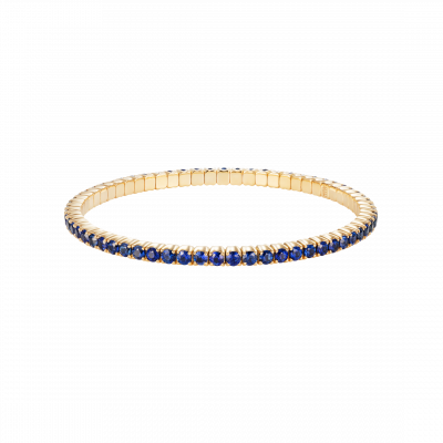 Large Advantage Sapphire Bracelet in Yellow Gold