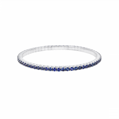 Large Advantage Sapphire Bracelet in White Gold