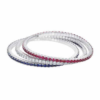 Large Advantage Bracelet Set in Sapphire, Diamond and Ruby