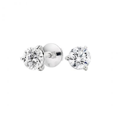 Solitaire Diamond Studs 0.84 carats total