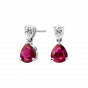 Wallace Ruby and Diamond Earrings