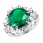 Fine Colombian Emerald and Diamond Ring