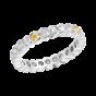 Eternity Yellow and White Diamond Ring