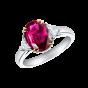 Trio Oval Ruby Ring