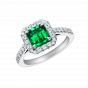 Regal Emerald Cut Emerald Ring