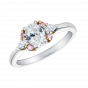 Papillon Diamond and Pink Diamond Ring