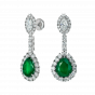 Imperial Emerald and Diamond Earrings