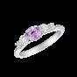 Cinq Pink Sapphire and Diamond Ring