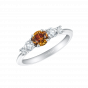 Cinq Orange Diamond and Diamond Ring