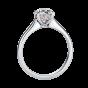Solitaire Round Diamond Ring with Discreet Pink Diamonds