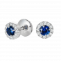 Regal Sapphire and Diamond Earrings