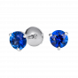 Solitaire Sapphire Stud Earrings