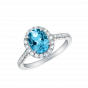 Regal Ring with Oval Aquamarine