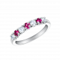 Lifetime Ruby and Diamond Ring