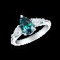 Trilogy Alexandrite and Diamond Ring