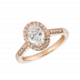 Regal Oval Diamond Ring