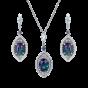 Cleopatra Alexandrite and Diamond Earrings