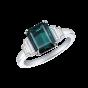 Artemis Alexandrite and Diamond Ring