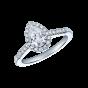 Regal Pear Shape Diamond Ring