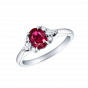 Papillon Ruby and Diamond Ring